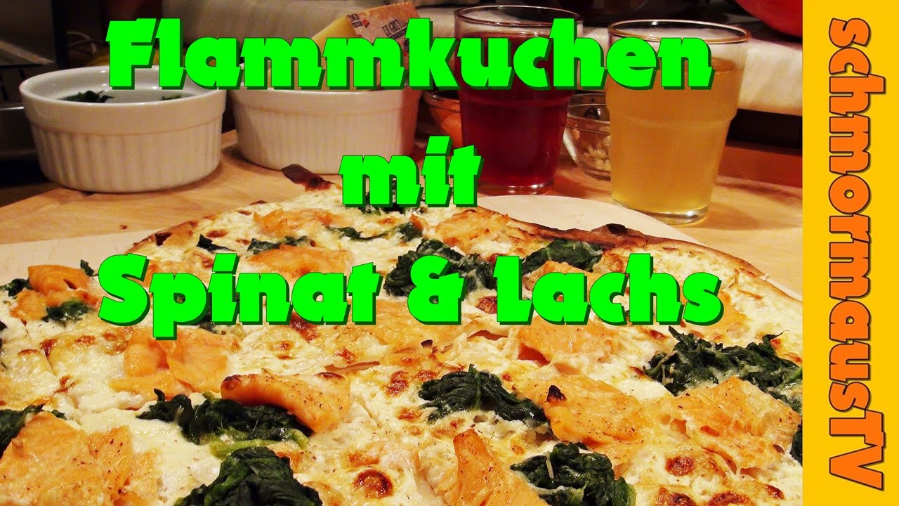 flammkuchen mit lachs spinat pikant 1 flammkuchen selber machen youtube. Black Bedroom Furniture Sets. Home Design Ideas