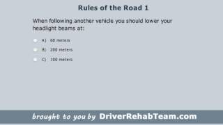 Ontario Driving Practice Test: Rules of the Road 1