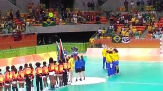 Baixar Rio 2016 / Hino Nacional do Brasil e Angola ( Handebol Feminino )