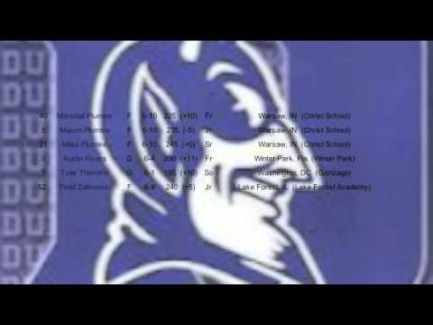 Duke 2012 Roster