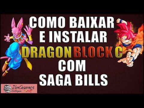 MINECRAFT - COMO BAIXAR E INSTALAR MOD DRAGON BLOCK C COM SAGA BILLS ATUALIZADO