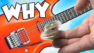 Fidget Spinner on GUITAR! (Fidget Spinner Tricks)
