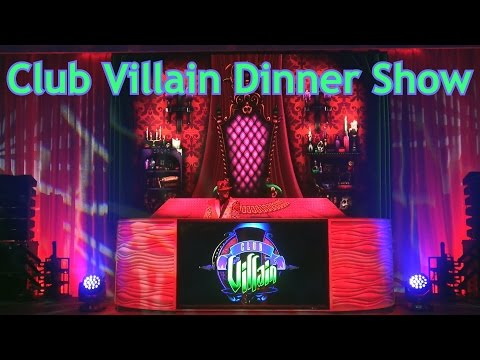 NEW Club Villain - Dinner Show & Character Dance Party - Disney's Hollywood Studios