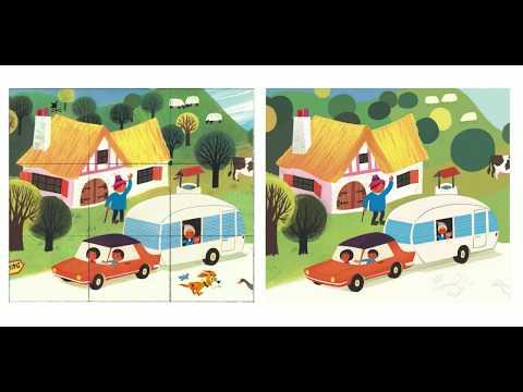Procreate timelapse • Vintage campers illustration • Alain Grée master copy