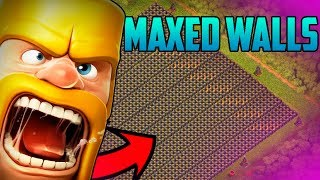 MAXED LEVEL 10 WALLS AFTER 2 YEARS OF PLAYING Clash of Clans!