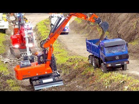 AMAZING RC TRUCK ACTION I HEAVY RC CONSTRUCTION EQUIPMENT I SCANIA I  INTERMODELLBAU