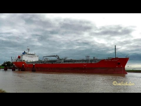 chemical tanker CHEM NEW ORLEANS D5FU3 IMO  9705756 outbound Emden merchant seaship