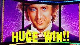 World of Wonka FULL SCREEN OF WONKAS HUGE WIN Free Spin Bonus Slot Machine