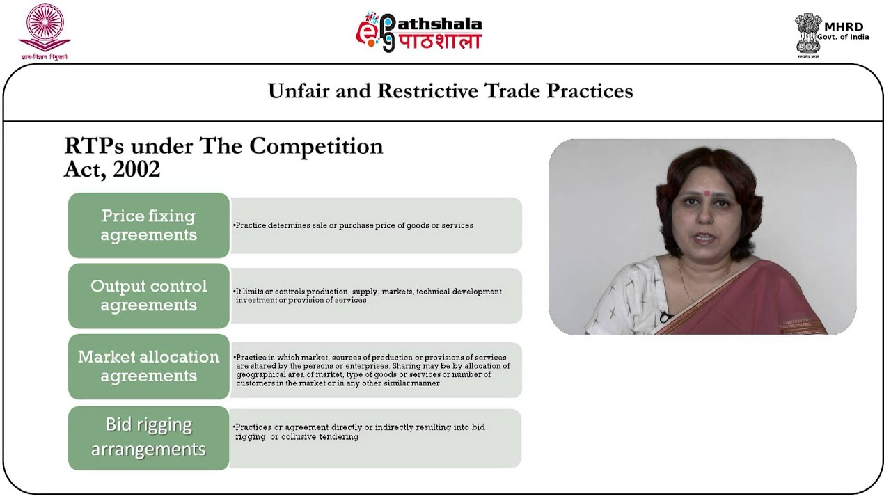 Unfair And Restrictive Trade Practices Youtube