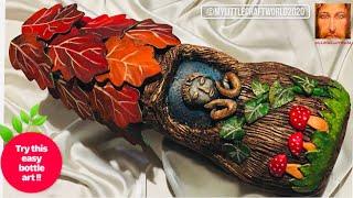 Life of an oak tree bottle art / bottle art / bottle decoration