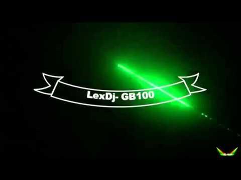 Lex Dj laser effect GB100 Green for Dj lighting