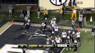 10/05/2013 Missouri vs Vanderbilt Football Highlights