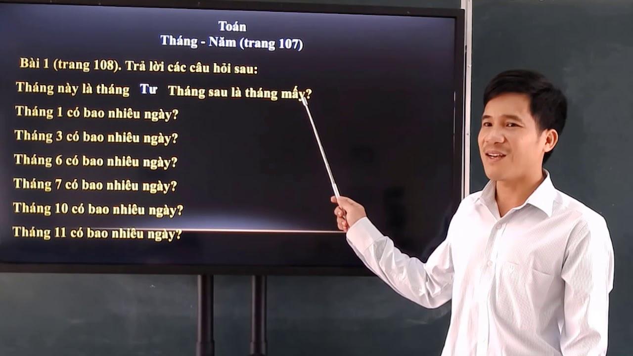 Toan 3   Thang   Nam trang 107 108 vs Luyen tap trang 109