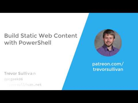 Build Static Web Content With PowerShell