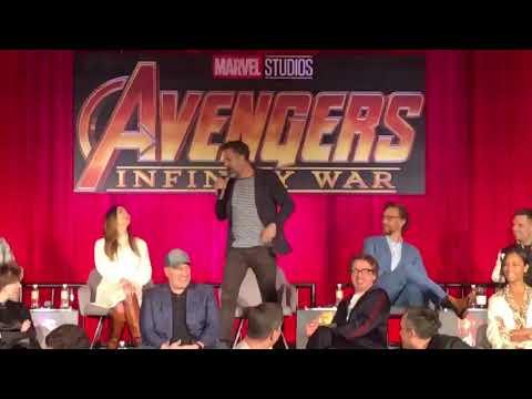 Infinity War press conference Mark Ruffalo  a hilarious moment