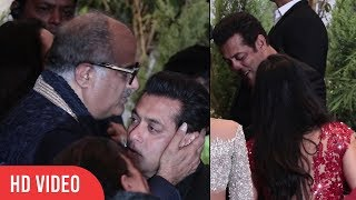 CUTE MOMENT Salman Khan hug Katrina Kaif | Boney Kapoor Kiss Salman Khan