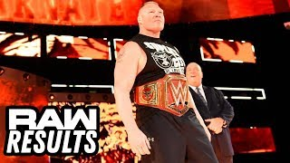 BROCKS FINAL RAW WWE Raw 42318 Review  Results Going In Raw Podcast