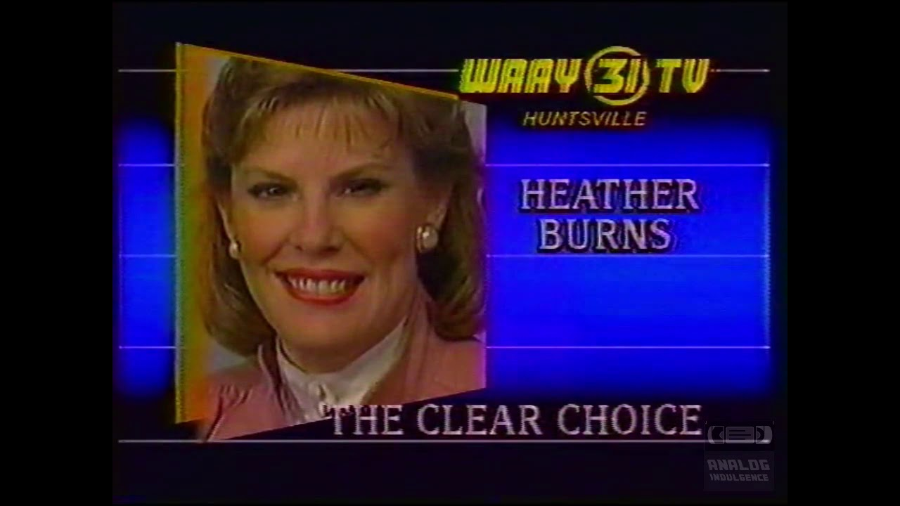 Heather Burns | WAAY 31 | Bumper | 1986 | Huntsville Alabama