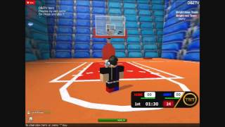 My own Basket Ball game on ROBLOX slow motion baby