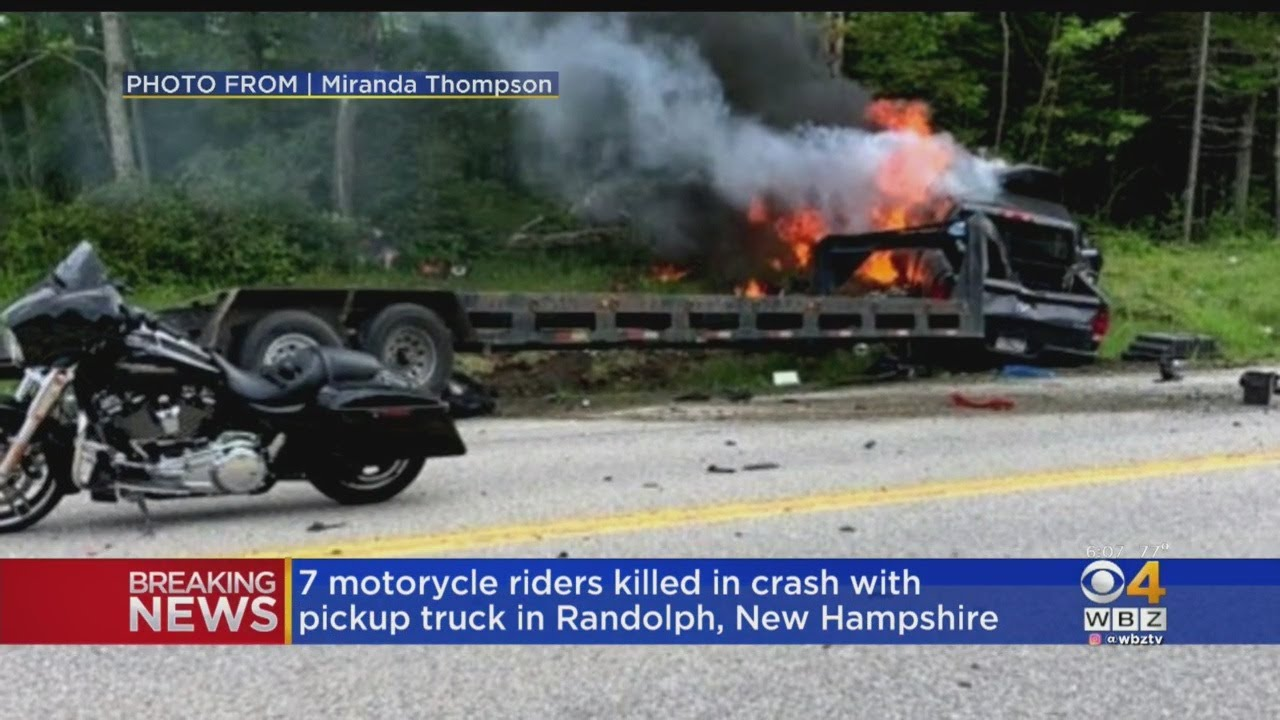 7 Dead After Pickup Truck And Trailer Hits Motorcycles In Randolph