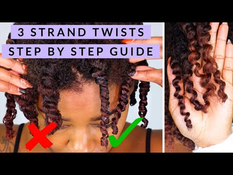 3 Strand Twist Out *VERY DETAILED*  + Fluff How To | Mastering Natural Hair Tutorial Series