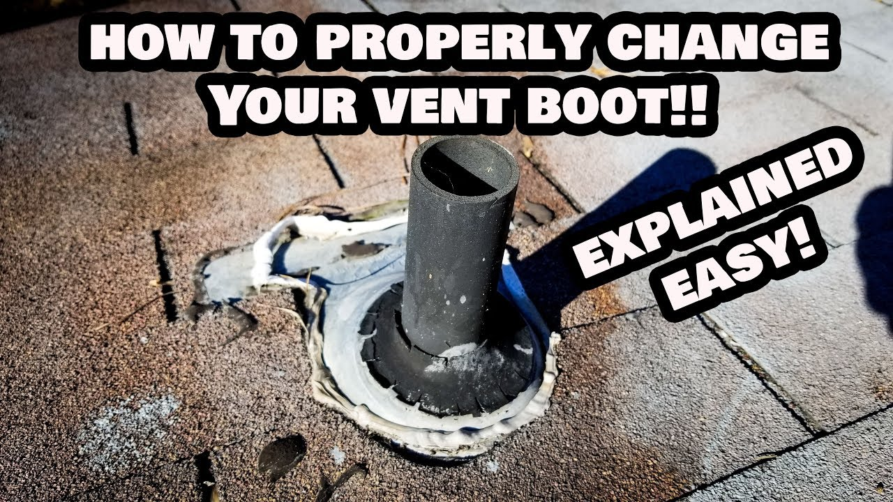 How To Change A Vent Boot On Your Roof Any Size Pipe Youtube