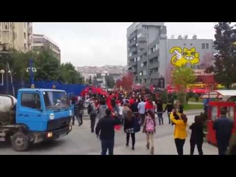 Kosovar High School Students Show Support For Albanian Soccer Team
