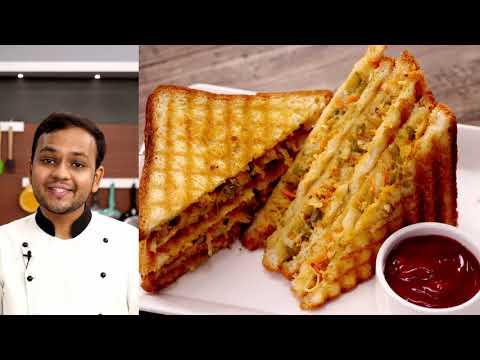 कैफ़े वाली ग्रिल सैंडविच की रेसिपी – mix veg grill sandwich cafe style recipe – cookingshooking
