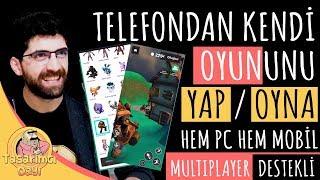 TELEFONDAN KENDİ OYUNUNU YAP / OYNA! (Mobilden Oyun Nasıl Yapılır?)