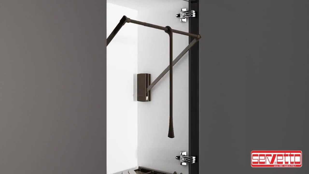 Servetto, l'ascensore nell'armadio - YouTube