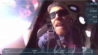 Richard Branson reaches edge of space on Virgin Galactic flight