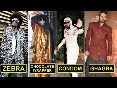 Ranveer Singh Top CRAZY Outfits   Ranveer Singh Weird Clothes