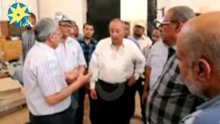 بالفيديو: جولة لمحافظ أسوان لمشروع تجديد محطتى للصرف الصحي