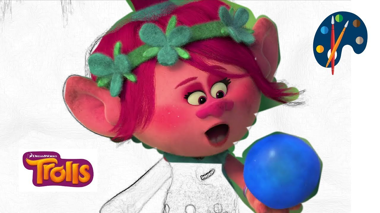Coloring Pages Trolls : Coloring pages trolls coloring books for kids how to color
