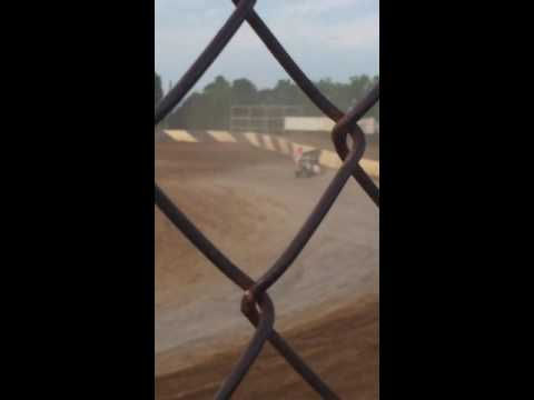 Tyler Leese making his first laps around Path Valley speedway