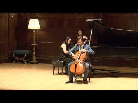 2018  Convocation - Eastman School of Music - Guy Johnston, cello, Schumann, full performance