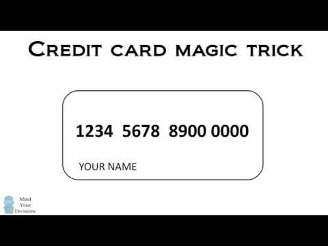 Secret Code In Credit Card Numbers