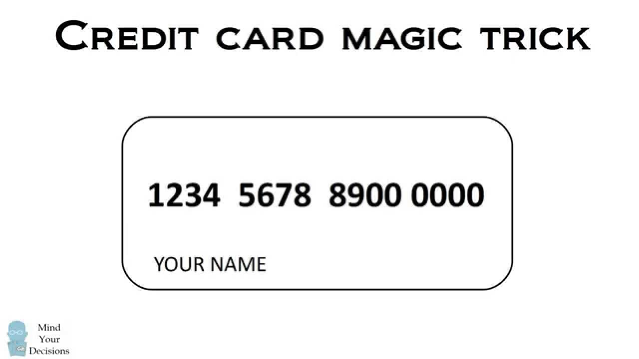 A Secret Code in Credit Card Numbers