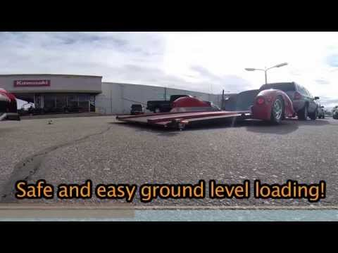 Air Ride drop deck motorcycle trailer Motorcycletrailer.com
