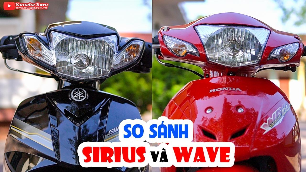 Honda Wave Alpha vs Yamaha Sirius 2017 ▶ So sánh Đối thủ truyền kiếp bán chạy nhất!