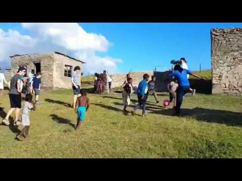 Football match in rural South Africa