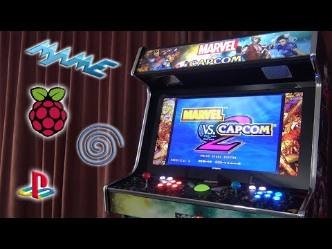 """Marvel vs. Capcom Ultimate """"Raspberry Pi 4"""" Cabinet / No Arcade1up from Wicked Gamer & Collector"""
