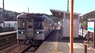 土讃線佐川駅 1000形気動車発車 2018.1.6