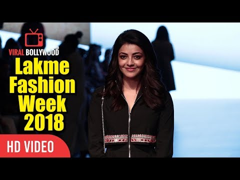 Kajal Aggarwal As A Guest At Lakme Fashion Week 2018 | LFW 2018 Day 04