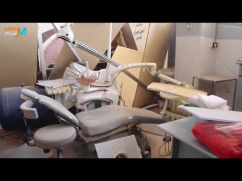 Damascus suburbs-Jisreen:destruction of Ibn Hayyan medical center in Syrian regime shelling 3 4 2017