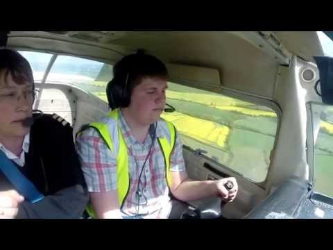 Cessna 152 local flight and circuits Cranfield Airport