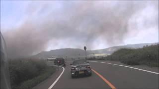 【ハプニング】阿蘇山噴火 避難