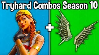 10 TRYHARD SKIN - BACKBLING COMBOS en SEASON X! (Fortnite Tryhard Combinations Saison 10)