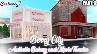 Bloxburg | Aesthetic Bakery and Movie Theater | Town Speed Build
