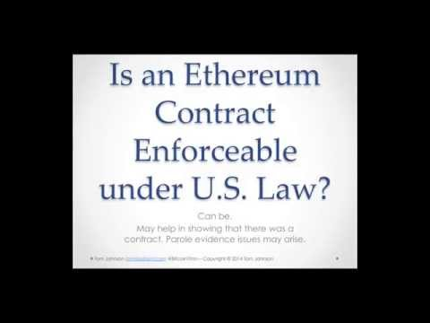 Ethereum contracts as Legal Contracts